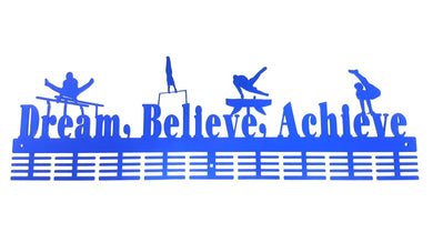 Dream Believe Achieve gymnastics MAG 72 tier medal hanger (option of colors available)