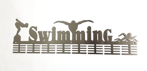 3 Figure swimming 64 tier medal hanger (option of colors available)