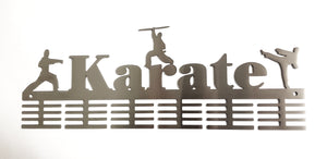 Karate 3 figure 48 tier medal hanger (option of colors available)