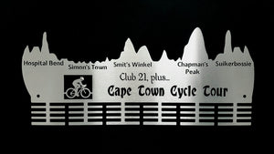 Cape Town Cycle Tour, Club 21 plus.. 48 tier medal hanger Stainless steel brush finish