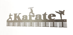 Karate 3 figure 72 tier medal hanger (option of colors available)