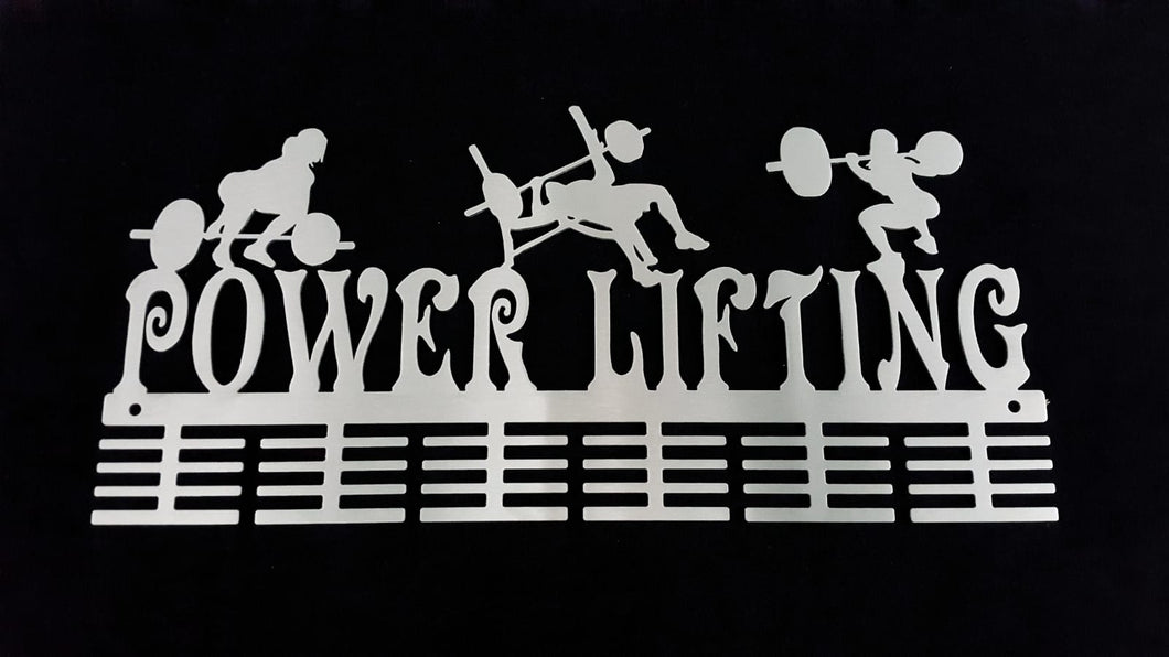 Lady Power Lifting 48 tier medal hanger (option of colors available)