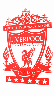 Liverpool Football Club Crest Mounted Wall Art Design