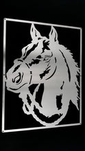 Load image into Gallery viewer, Horse Portrait Mounted Wall Art Stainless steel brush finish