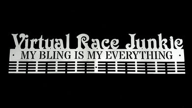 Virtual Race Junkie, My Bling Is My Everything 72 tier medal hanger (option of colors available)