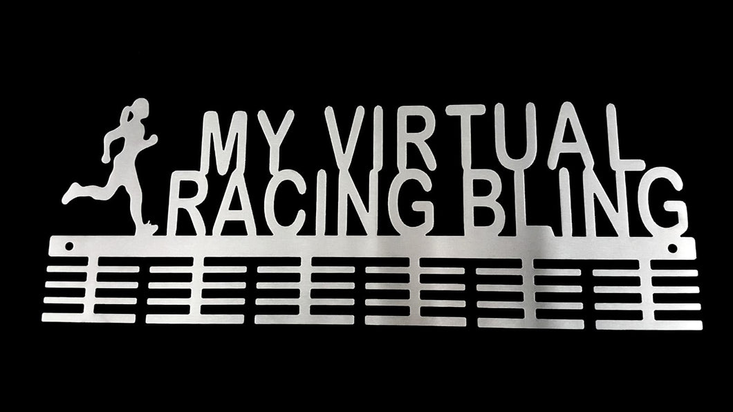 Lady My Virtual Racing Bling 48 tier medal hanger (option of colors available)