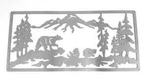 Bears in the Mountains Mounted Wall Art