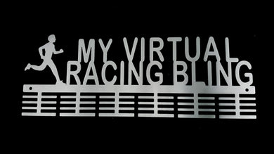 Male My Virtual Racing Bling 48 tier medal hanger (option of colors available)