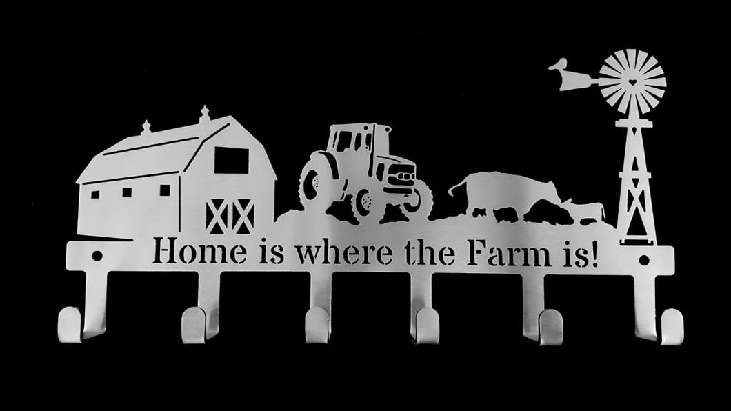 Home is where the farm is! 6 hook Key Hook