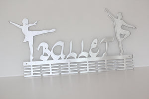 Ballerino & Ballerina combo 48 tier medal hanger (option of colors available)