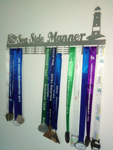 Personalised 72 tier medal hanger with name and up to 4 figurines