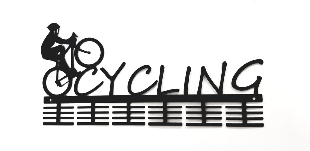 Male Cycling 48 tier medal hanger (option of colors available)