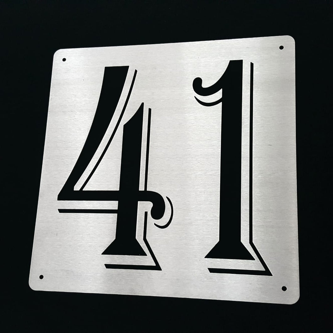 Personalised house number plate designs