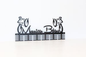 Mountain bike figurines 48 tier medal hanger (option of colors available)
