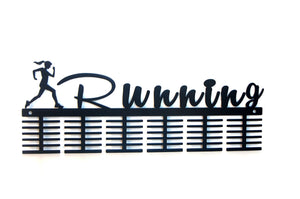 Running Lady 72 tier medal hanger (option of colors available)