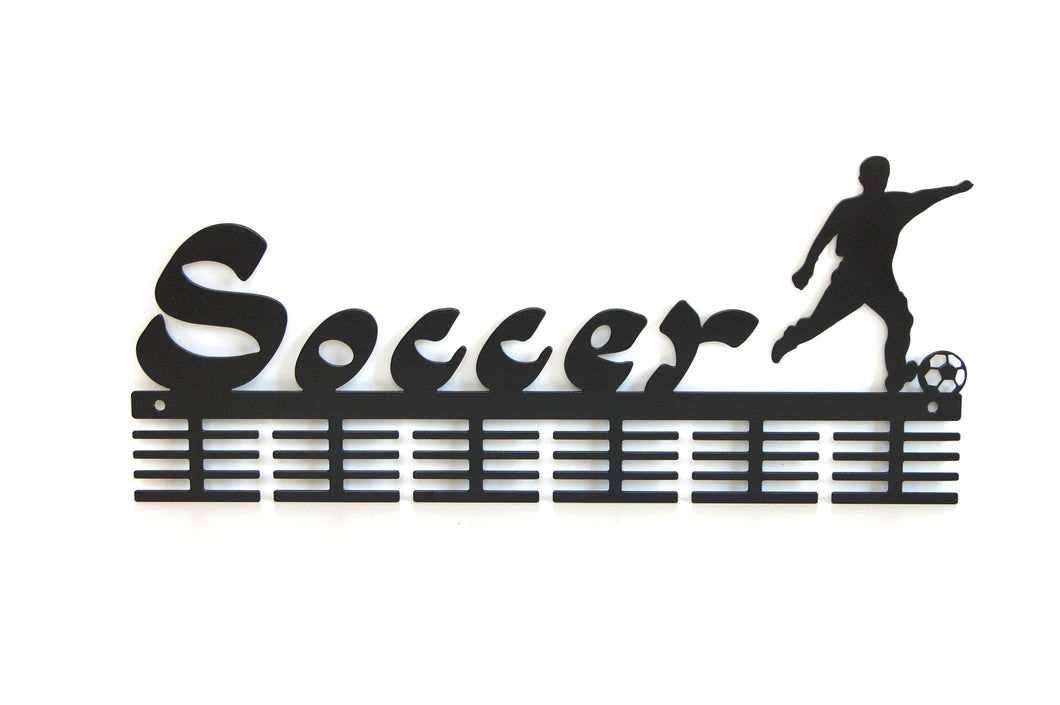 Soccer 48 tier medal hanger (option of colors available)