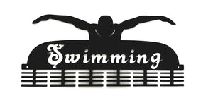 Swimming 48 tier medal hanger (option of colors available)