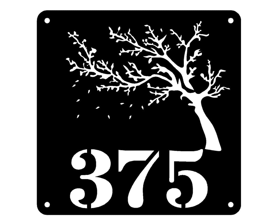 Windy Tree Street Number Design 24