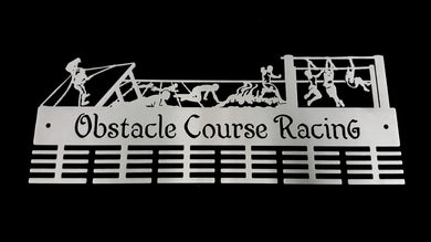 Obstacle Course Racing 48 tier medal hanger (option of colors available)