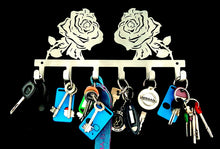 Load image into Gallery viewer, Rose Flower Key Hook