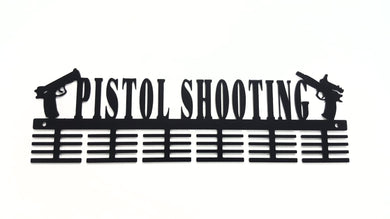 Pistol Shooting 48 tier medal hanger (option of colors available)