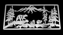 Load image into Gallery viewer, Bears in the Mountains Mounted Wall Art