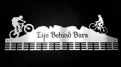 Life Behind Bars Couple MTB 72 tier medal hanger (option of colors available)