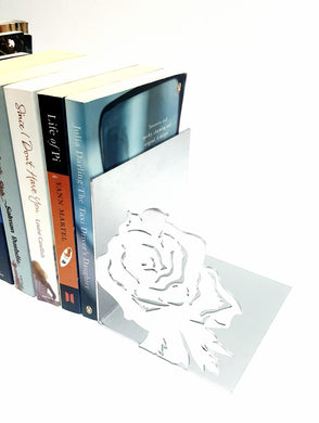 Rose Flower Book Ends