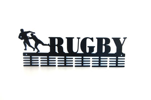 Rugby 48 tier medal hanger (option of colors available)