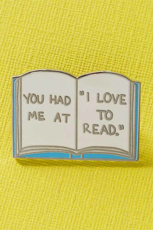 "Punky Pins You Had Me At ""I Love To Read"" Enamel Pin"