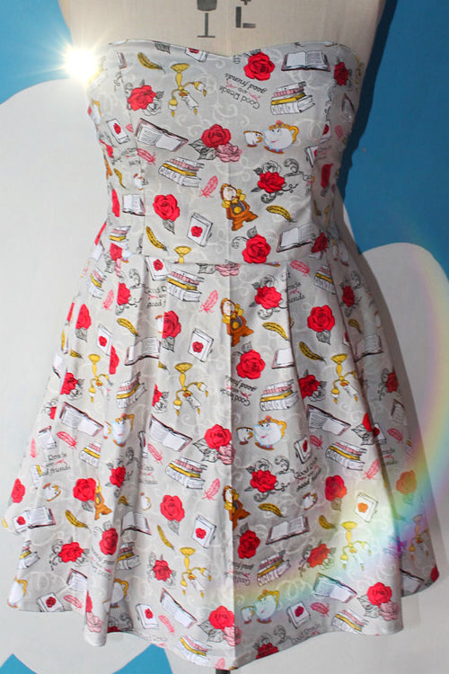 Pre Order Friends Beauty and the Beast Sweetheart Dress