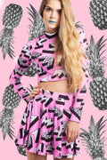 Geometric Pink Co-Ord