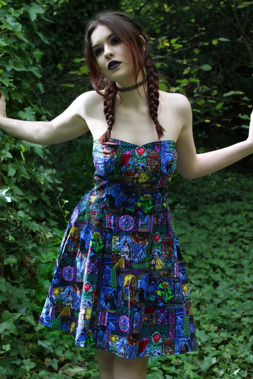 Stain Glass Window Beauty and the Beast Sweetheart Dress