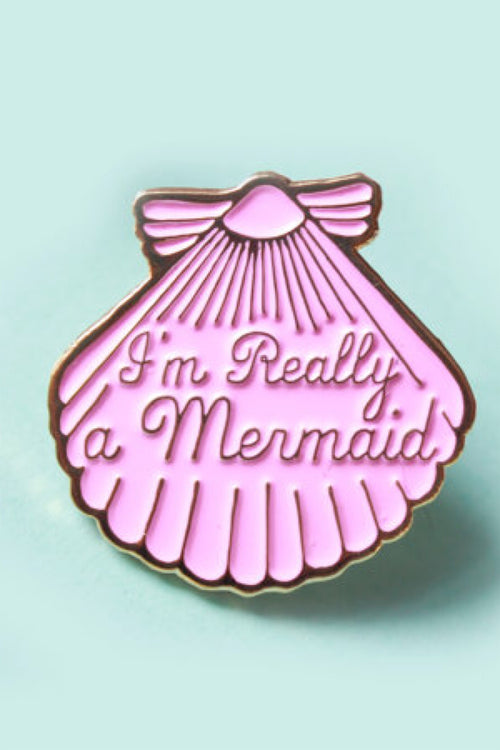 Mermaid Pink Enamel Pin