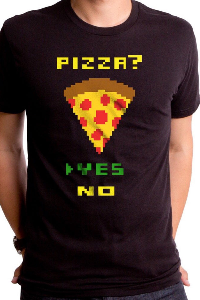 Pizza Yes, No Tee