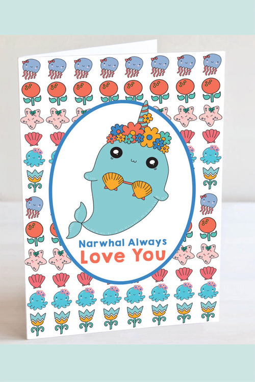 Narwhal Always Love You Blank Card