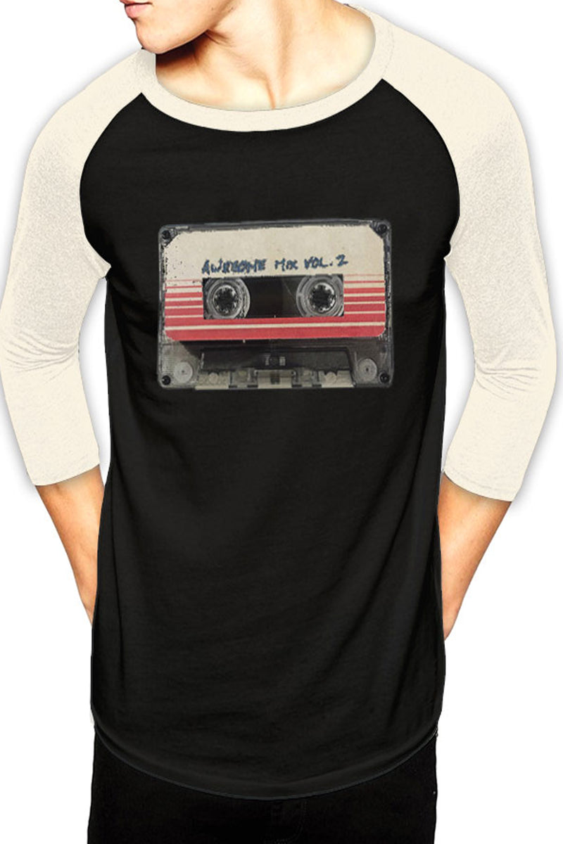 Guardians of the Galaxy Awesome Mixtape Volume 2 Raglan Tee