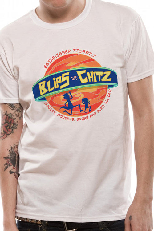 Rick and Morty Blips and chitz White Tee