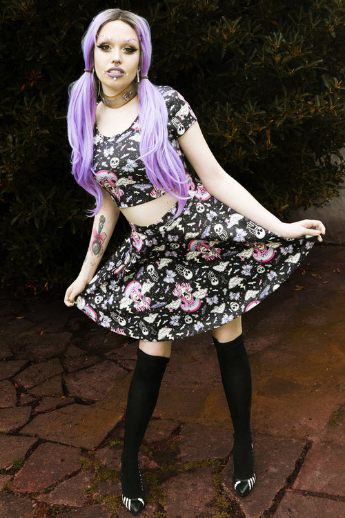Hell Bunny Candy Goth Skirt