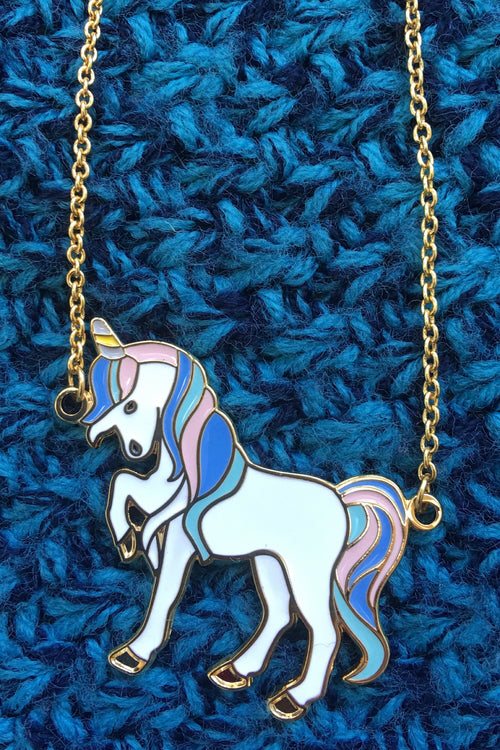 Nicola unicorn necklace - pastel