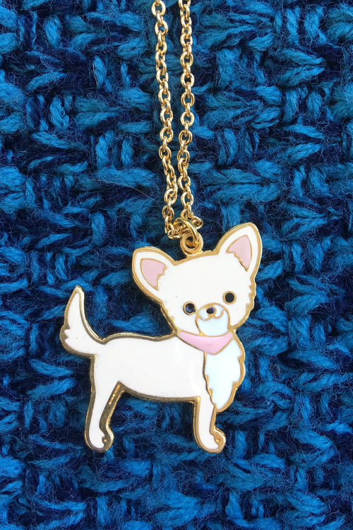 Lino chihuahua necklace - Cream