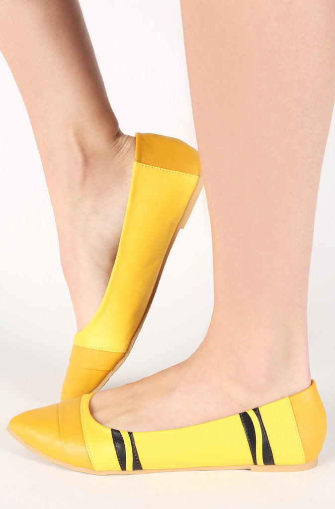 Limited Edition Crayon Yellow Flats