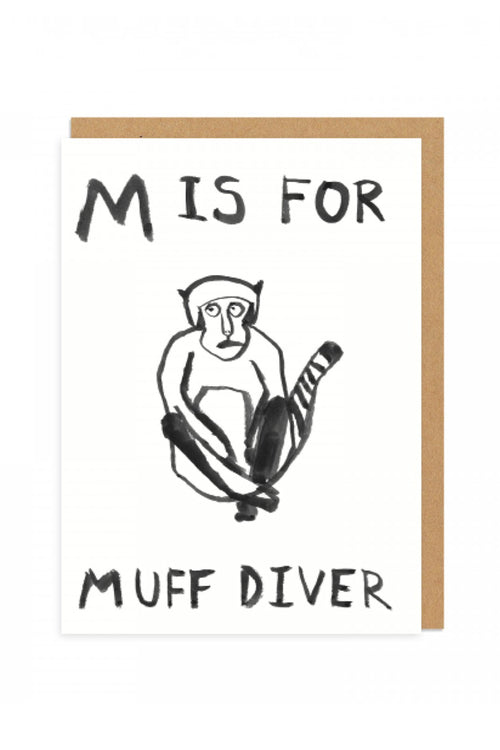 M is for Greetings Card