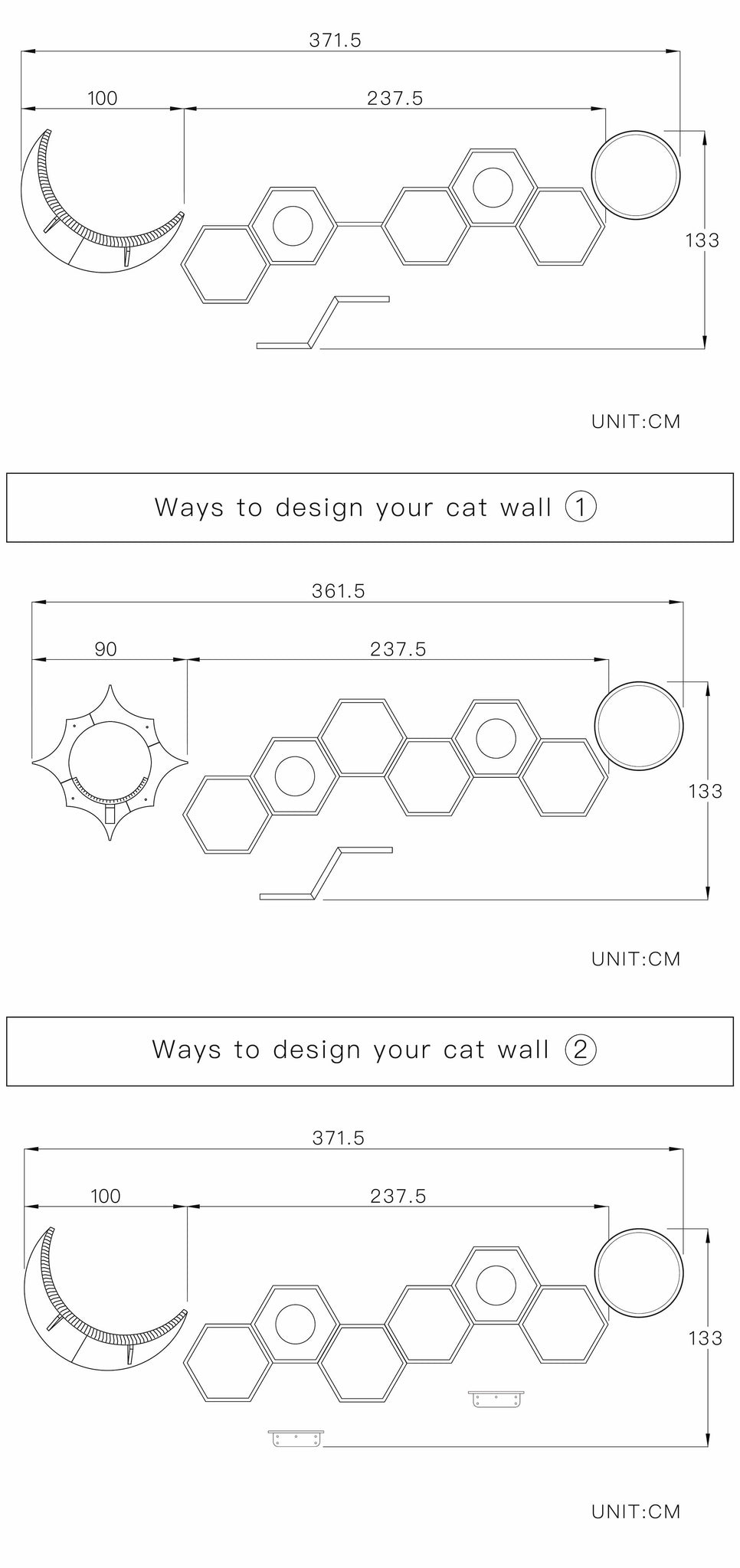 layout of cat wall