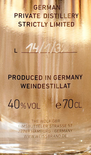 The Wolf Weissbrand, Weindestillat 700ml