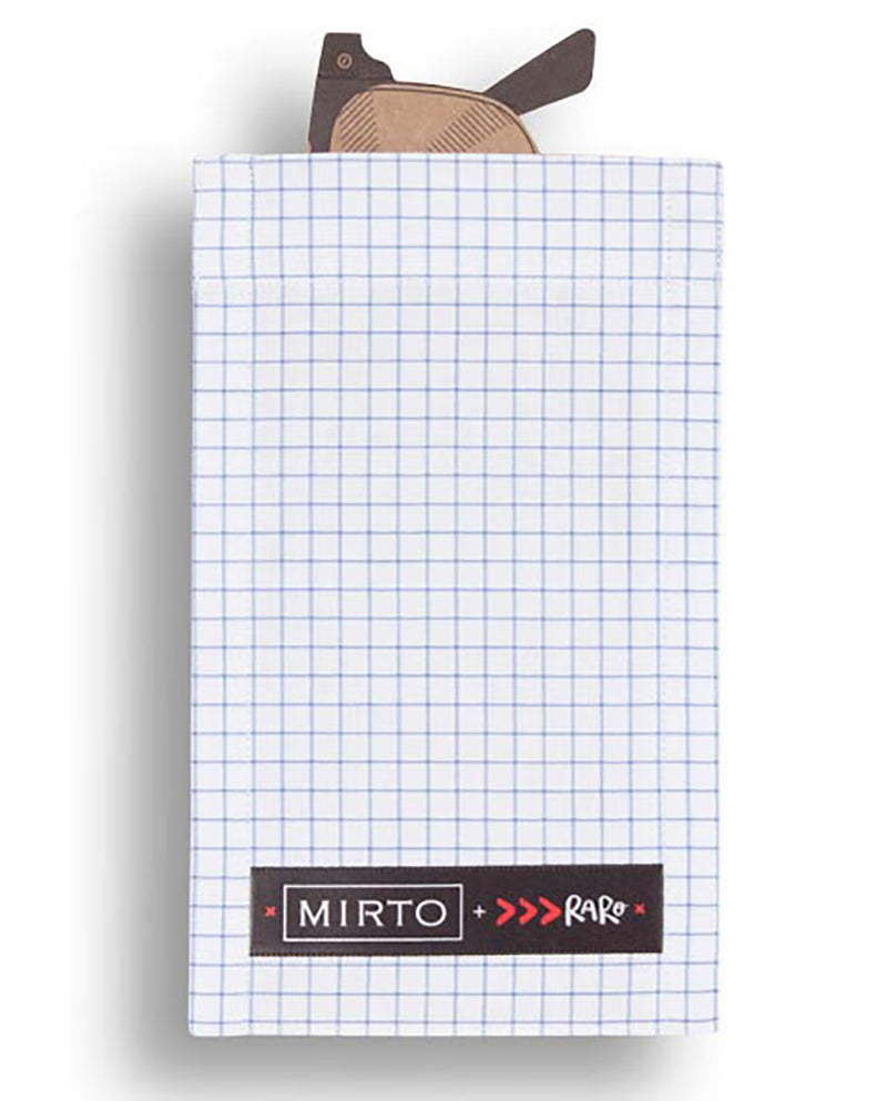 "Glass Pocket Square ""Be Classic"" by MIRTO"