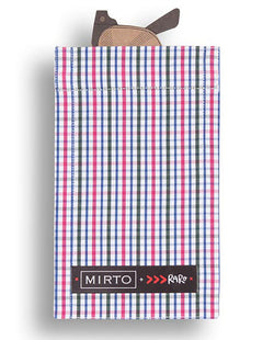 "Glass Pocket Square ""Check in Town"" by MIRTO"