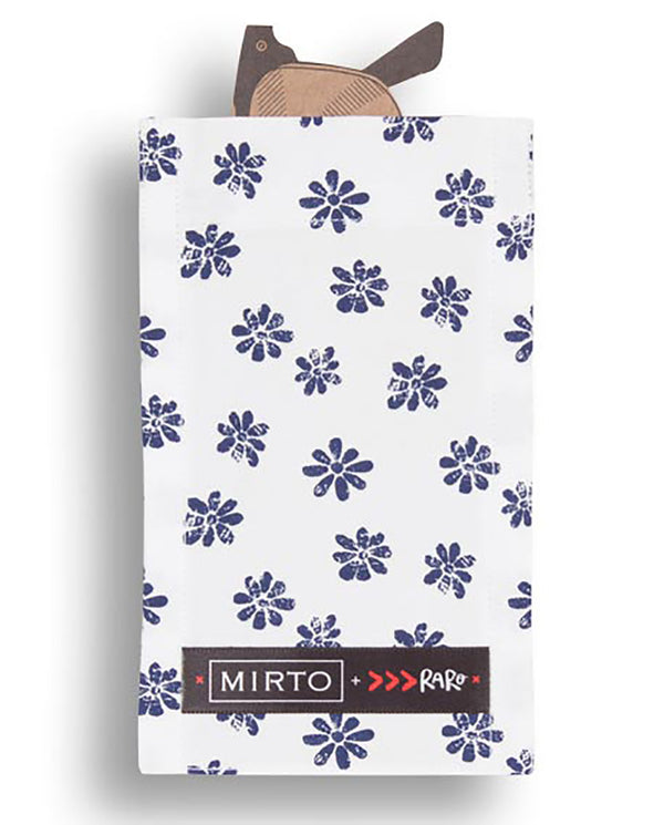 "Glass Pocket Square ""Flower Power"" by MIRTO"