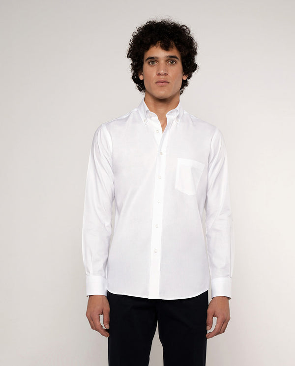 CAMISA CASUAL OXFORD BLANCO