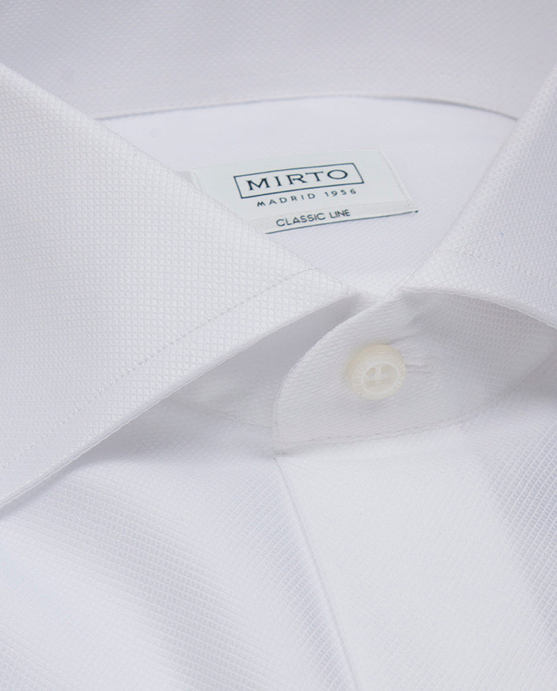 CAMISA VESTIR PUÑO DOBLE BLANCO by MIRTO